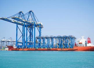 The new cranes arriving at RSGT in Jeddah
