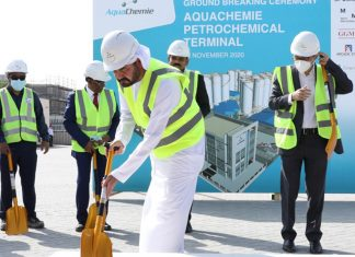 The groundbreaking ceremony for the new chemical terminal, held on November 23rd this year, was led by Mohammed Al Muallem, CEO and Managing Director, DP World, UAE Region and CEO of Jafza