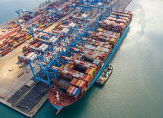 Maersk Horsburgh at the Carmel Terminal