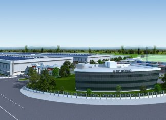 Computer generated image of the new Nhava Sheva Business Park Free Zone