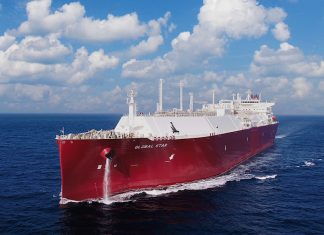 The newly-delivered LNG carrier, Global Star