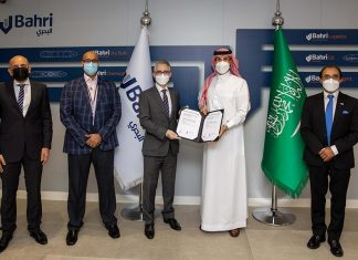 Bahri executives receiving the latest ISO certification