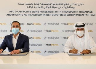 Abu Dhabi Ports has signed an agreement with Transportr to deliver container transportation services to its inland container depot in Mussafah.