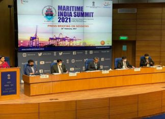 The press briefing for the forthcoming Maritime India Summit