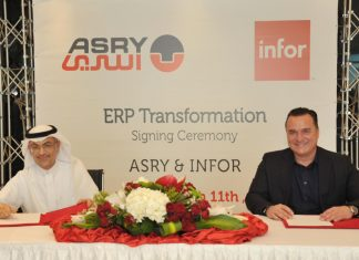 The contract was signed by Mazen Matar, the Managing Director of ASRY, Jeorg Jung, the Executive Vice President for EMEA at Infor in the presence of a number of officials from both companies.