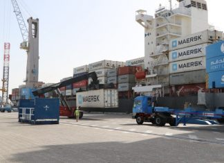 Maersk's Mercer Archipelago alongside at Duqm port