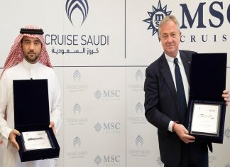 Last month Fawaz Farooqui, Managing Director of Cruise Saudi, and Pierfrancesco Vago, Executive Chairman of MSC Cruises, signed a landmark framework agreement in the Saudi capital city Riyadh to mark the beginning of the new partnership.