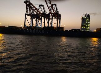 Container operations are now underway again at APM Terminals Pipavav