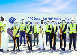 The ground breaking ceremony for GAC's new logistics facility in Qatar