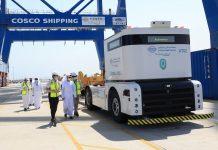 Landmark autonomous truck system for Khalifa Port