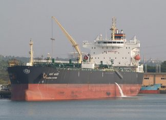 The SCI tanker Swarna Kaveri was the first of the SCI fleet to receive a ballast water treatment system retrofit