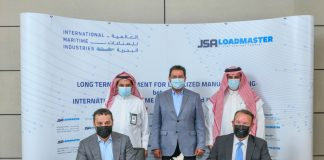 The long-term agreement was signed by Fathi K. Al-Saleem, President and Chief Executive Officer of IMI and Jay Fogal, Managing Director of JSA Loadmaster Arabia and President and CEO of Jackup Structures Alliance, during a ceremony at Dhahran, Saudi Arabia. It was also attended by executives from IMI, JSA Loadmaster, Saudi Aramco and ARO Drilling.