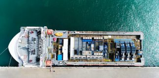 An aerial view of one of the new vessels acquired by OFCO