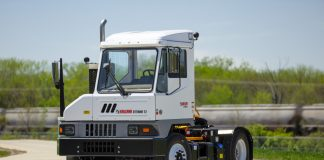 A Kalmar Ottowa terminal tractor of the type acquired by DP World for Jeddah South
