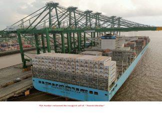 The maiden call of Maersk Gibraltar at PSA Mumbai