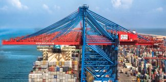 SCCT has raised the height of some ship-to-shore cranes so that it can better handle mega containerships