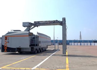 The new container scanner at Paradip port