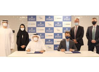 Agreement was signed by Christopher Cook, Managing Director, Maersk UAE and Abdulla Bin Damithan, CEO & Managing Director, DP World – UAE Region & Jafza in Dubai