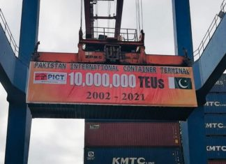 The 10 millionth teu being handled at PICT