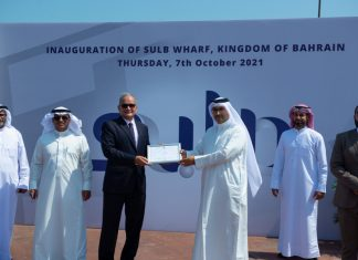 Celebrating the opening of the new SULB berth in Bahrain